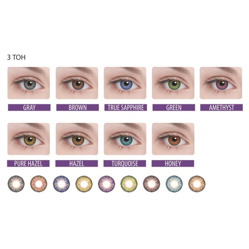 Цветные контактные линзы цвета